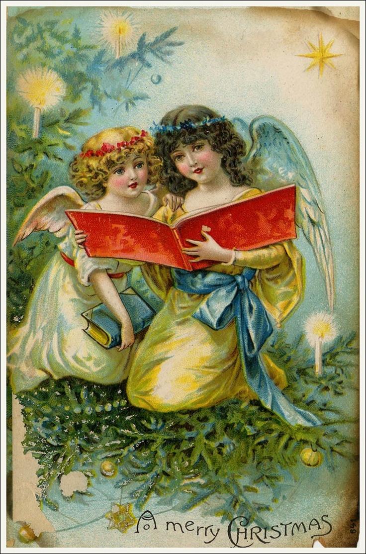 Новый год ангелы открытки